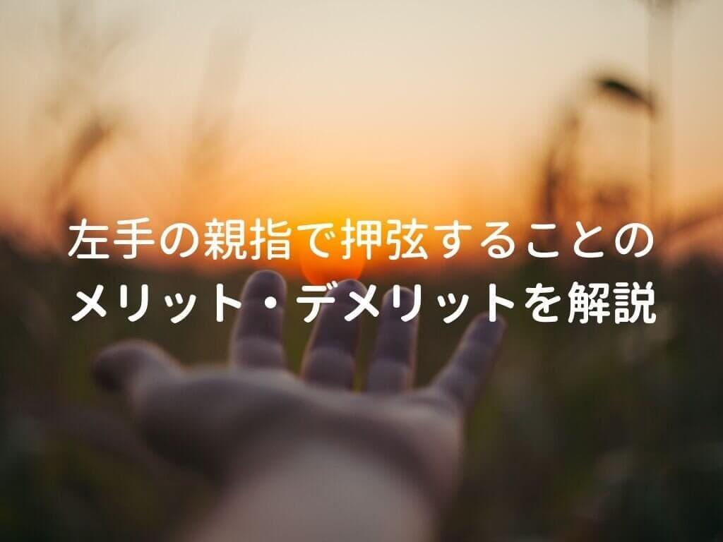 左手と夕日