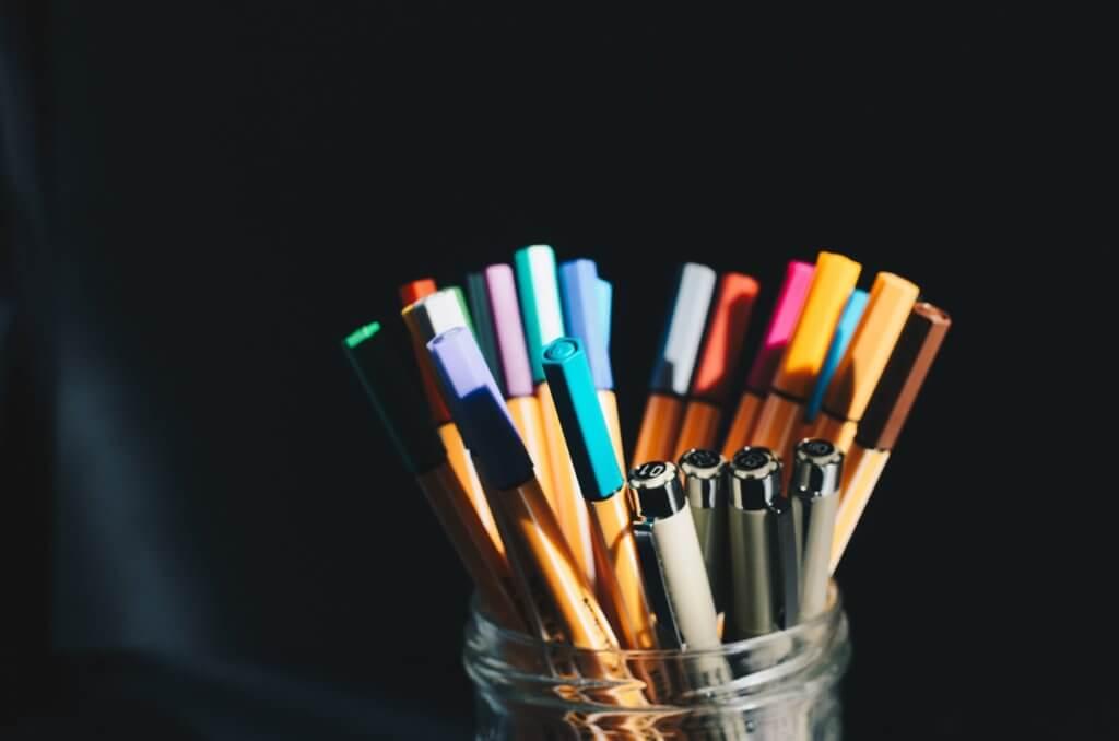 たくさんのペン