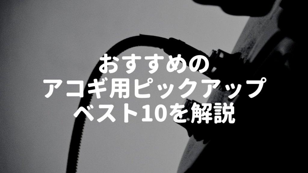 アコギ用ピックアップ 解説