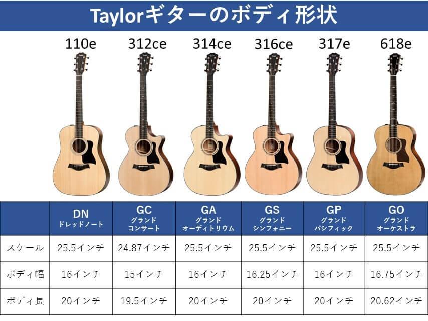 Taylorボディサイズ