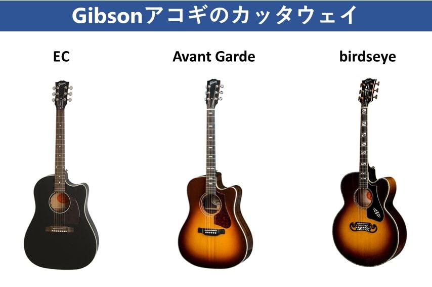 Gibsonギター カッタウェイ