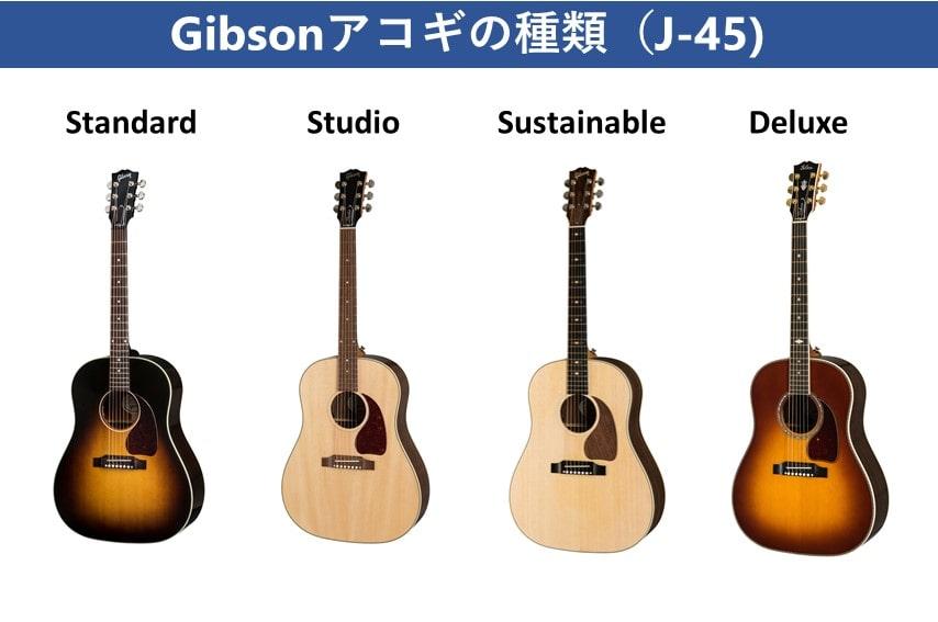 Gibsonレギュラーラインナップ