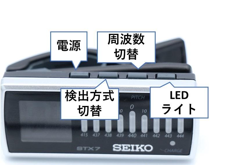 STX7 操作ボタン