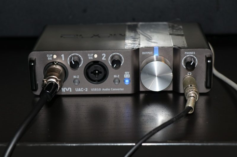 ZOOM UAC-2でレコーディング