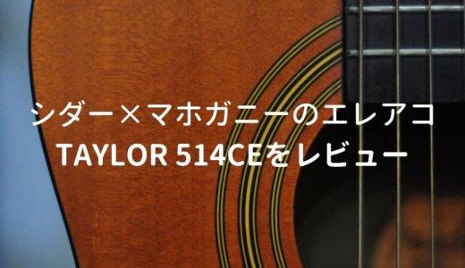 Taylor(テイラー)514ce V-Classをレビュー。シダー×マホガニーの珍しいエレアコ