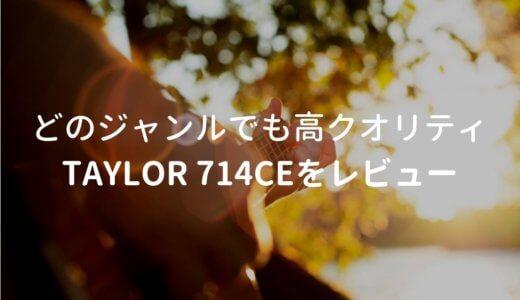 Taylor(テイラー)714ce V-Classをレビュー。Martinにも負けない生音を持つエレアコ