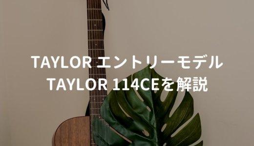 Taylor(テイラー)114ce Walnutをレビュー。高性能ピックアップ搭載のエントリーモデル