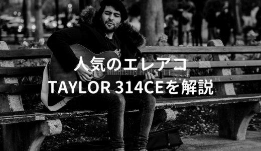 Taylor(テイラー)314ce V-Classをレビュー。プロ・アマ問わず人気のバランス良いエレアコ