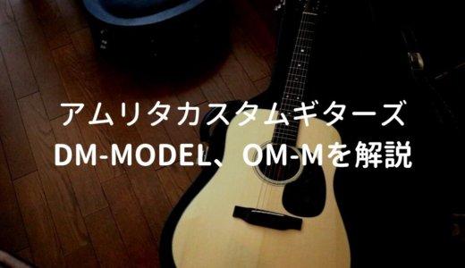 アムリタカスタムギターズ DM-Model、OM-Mを解説。ホンジュラス・マホガニー使用の万能アコギ