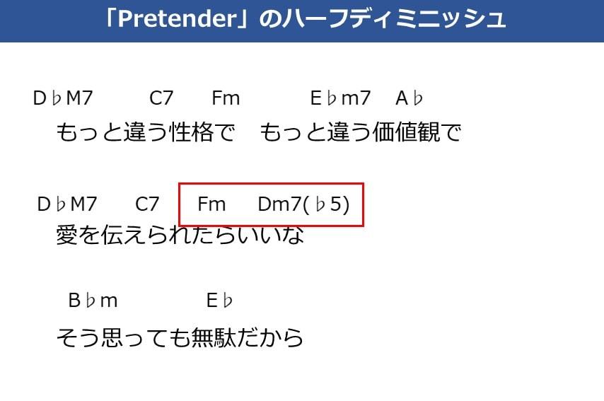 PretenderのBメロ コード進行