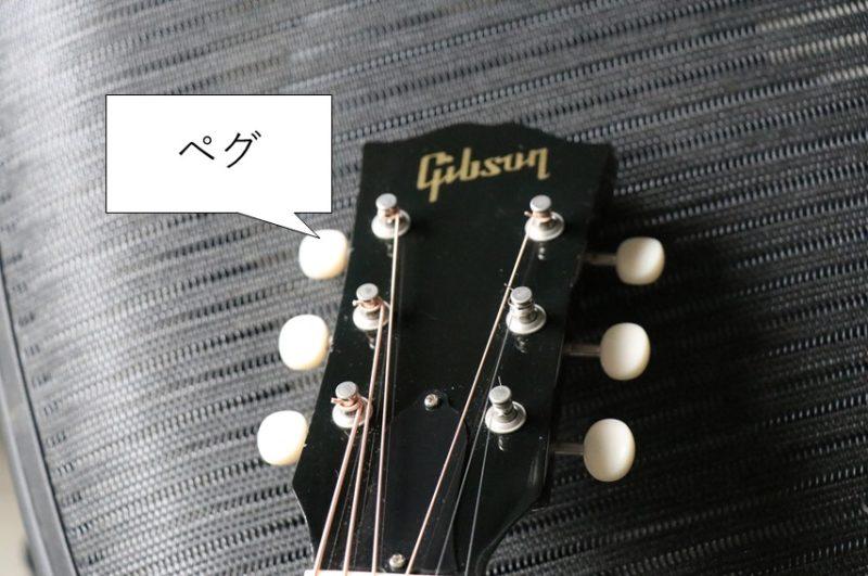 ギターのペグ