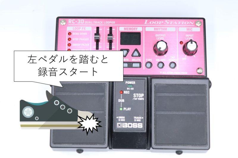 RC-30 録音スタート