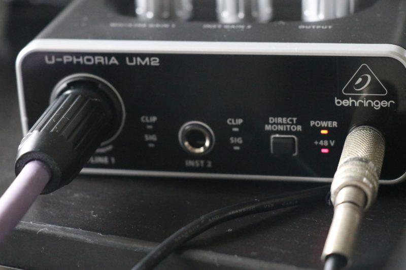 UM2でレコーディングしているところ