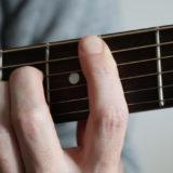 ギターのBコードを押さえた時の写真