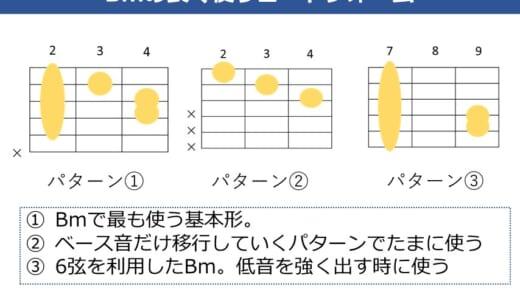 Bmコード(ビーマイナー)の押さえ方。ギターでキレイに鳴らすためのコツや良く使うコードフォームを解説