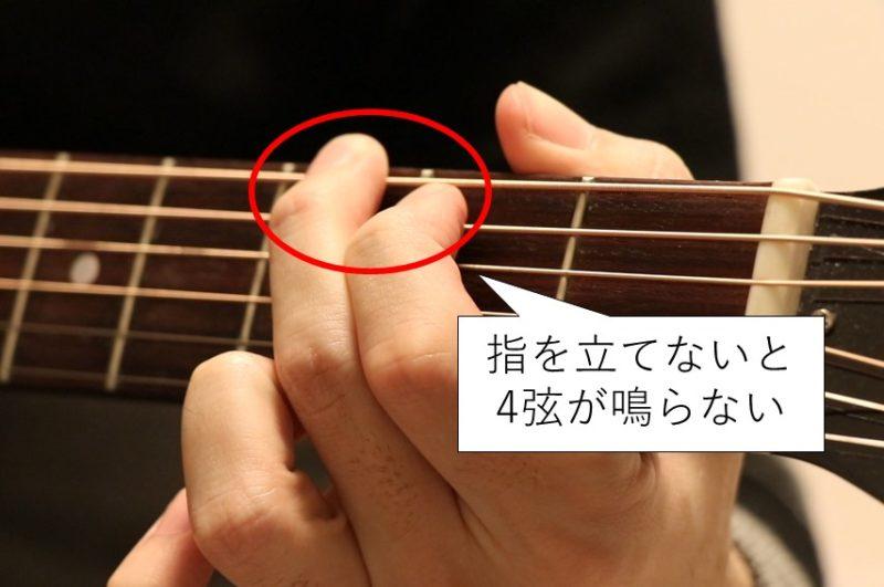 Gコードでは指をしっかり立てないとキレイに音が鳴らない