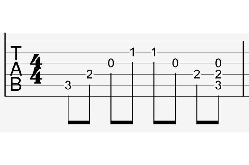 アルペジオのtab譜