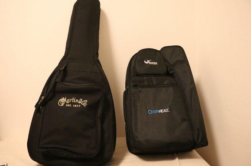 OF410とミニギターを専用バッグに入れた状態を比較