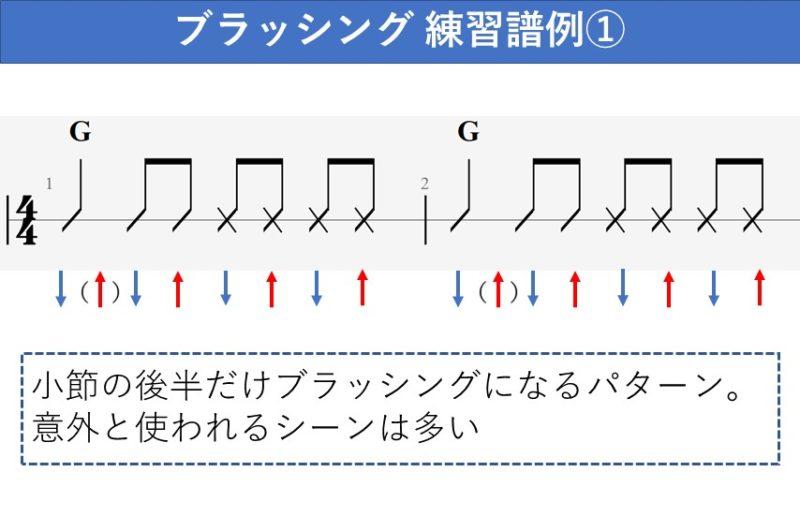 ブラッシング練習譜例 基本パターン