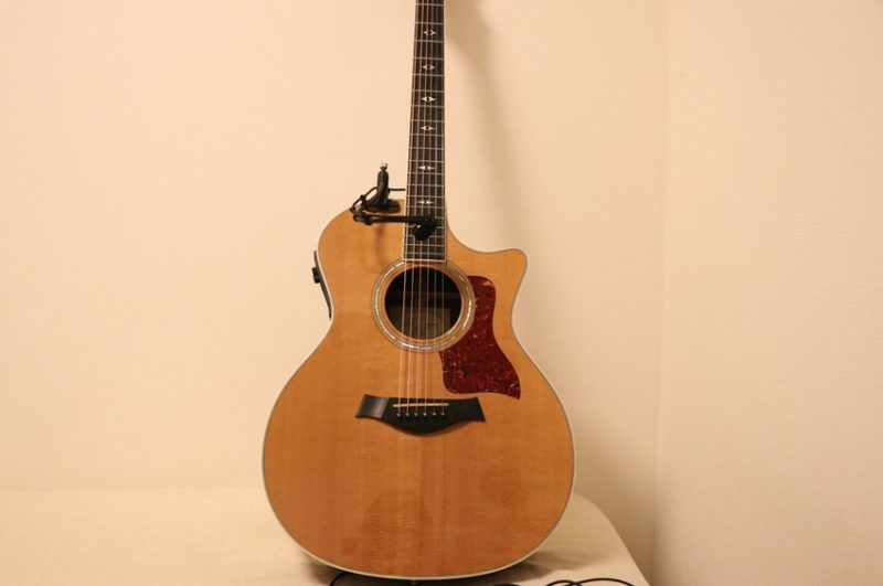 ギターにATM350GLを取り付けた時の全体像