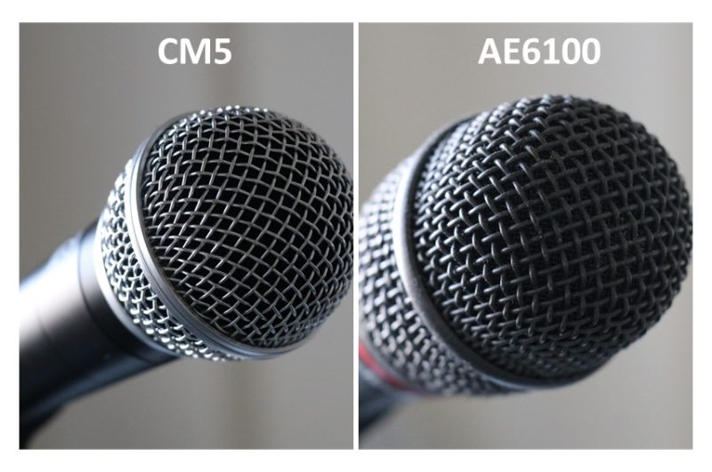 CLASSIC PRO CM5とAE6100のグリル部分を比較