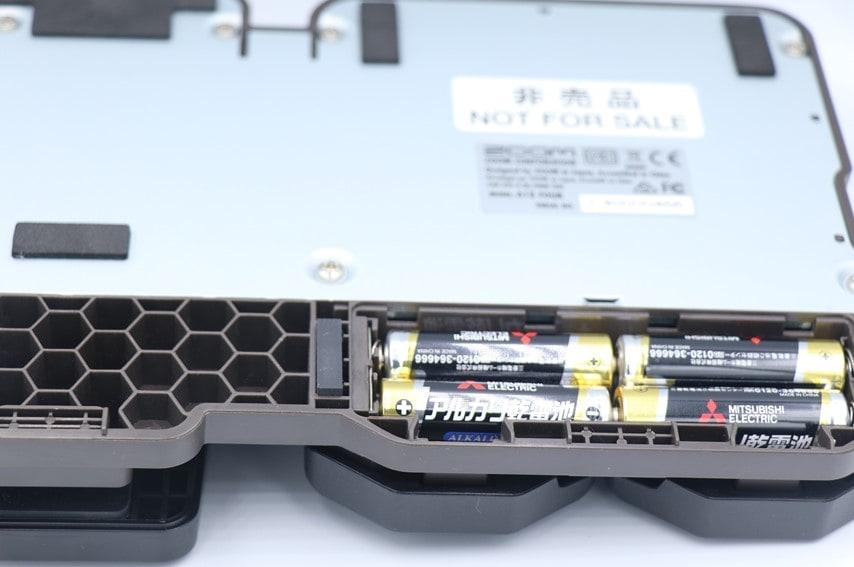 A1X Fourの単三電池を入れるところ
