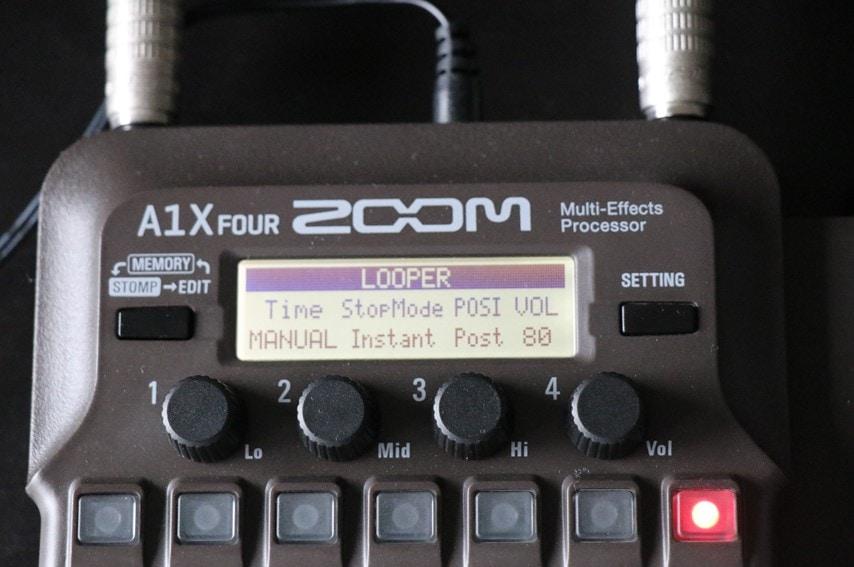 A1X Four ルーパー設定画面