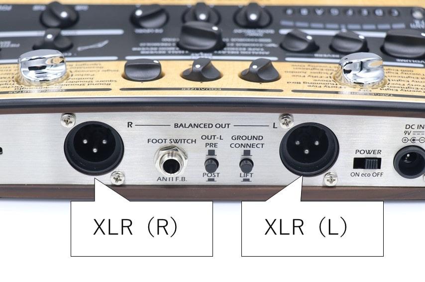 AC-3のXLR端子