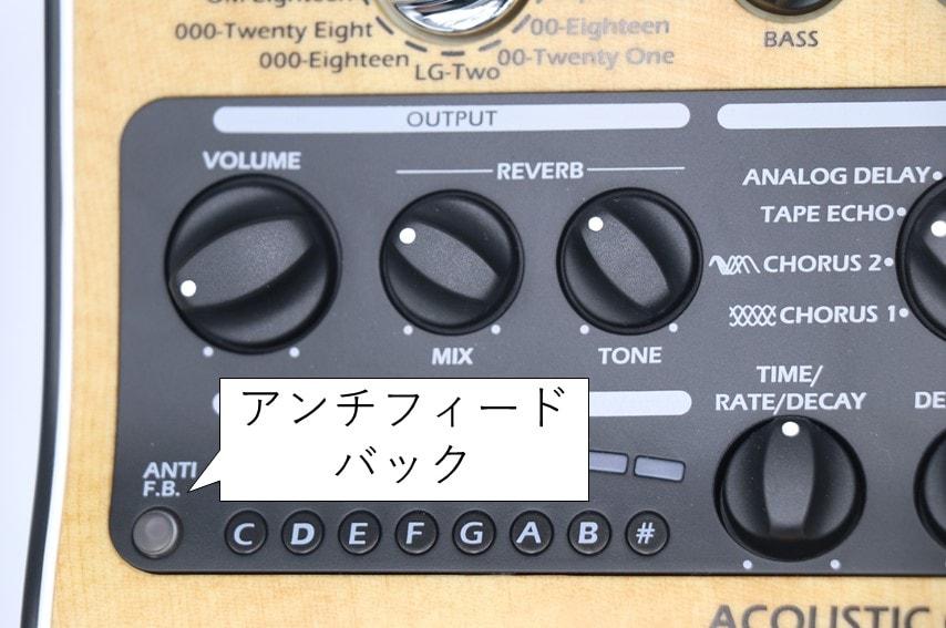 AC-3のアンチフィードバックボタン