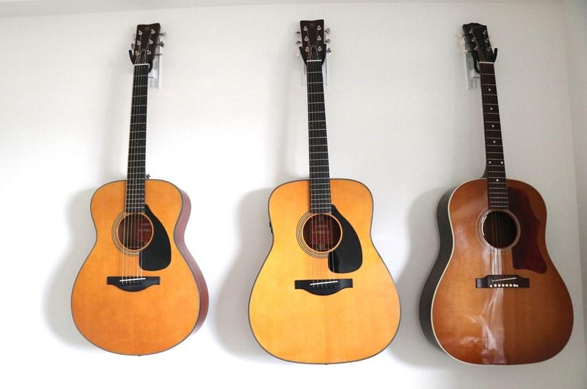 壁美人ギターヒーローで3本のギターを並べた