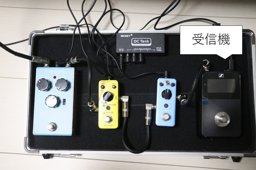 XSW-D PEDALBOARD SETをペダルボードに組み込んだ状態
