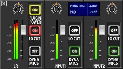 ZOOM Q8のミキサー画面