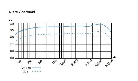 e965 周波数特性 カーディオイド