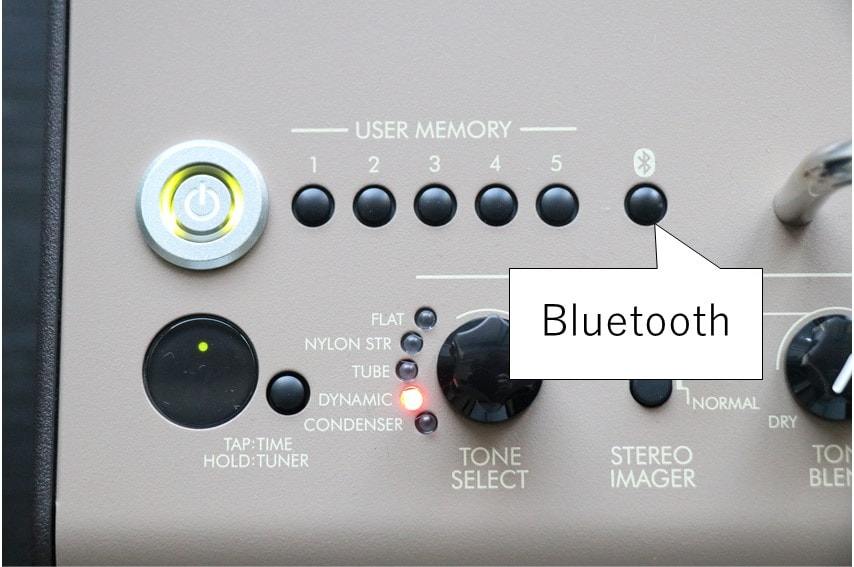 THR30ⅡA WirelessのBluetoothボタン