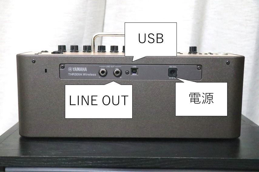 THR30ⅡA Wirelessの接続端子