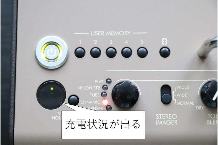 THR30ⅡA Wireless 充電状態の表示