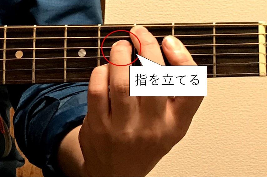 Cdimを押さえる中指、薬指、小指は立てる
