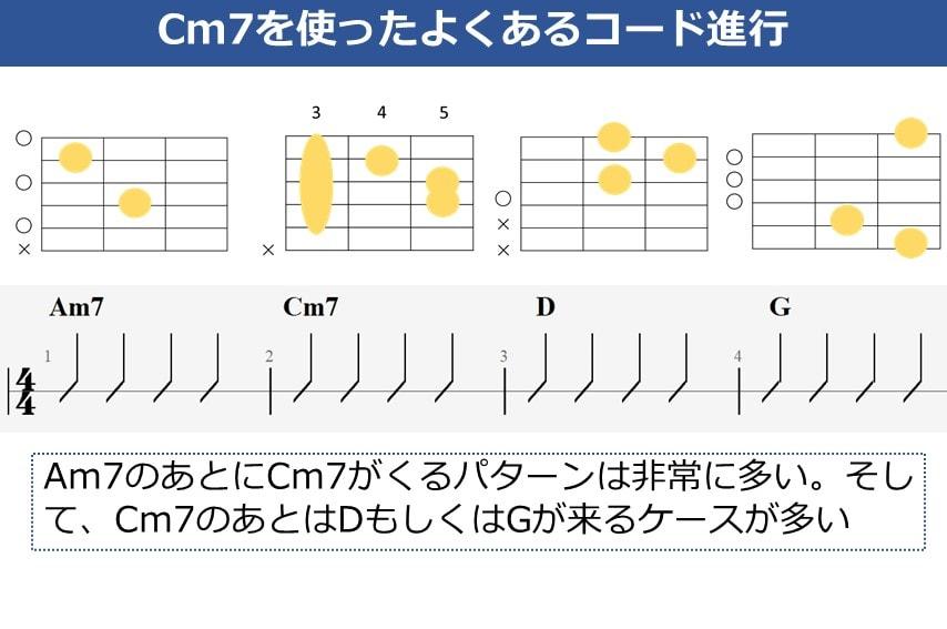 Cm7を使ったよくあるコード進行