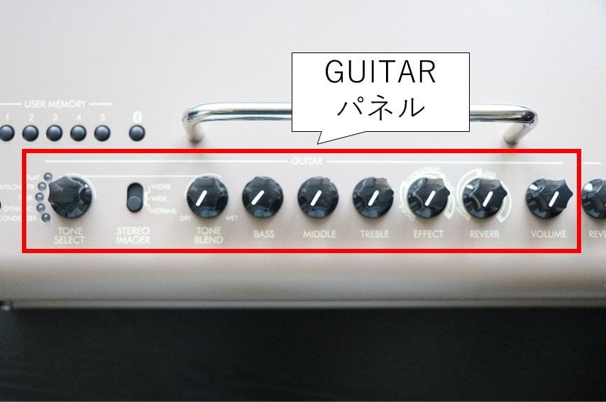 THR30ⅡA Wirelessのギターパネル
