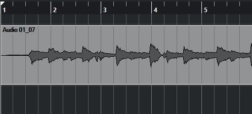 エレアコのVol 50%、THR30でVolをフルテンにして録ったときの波形