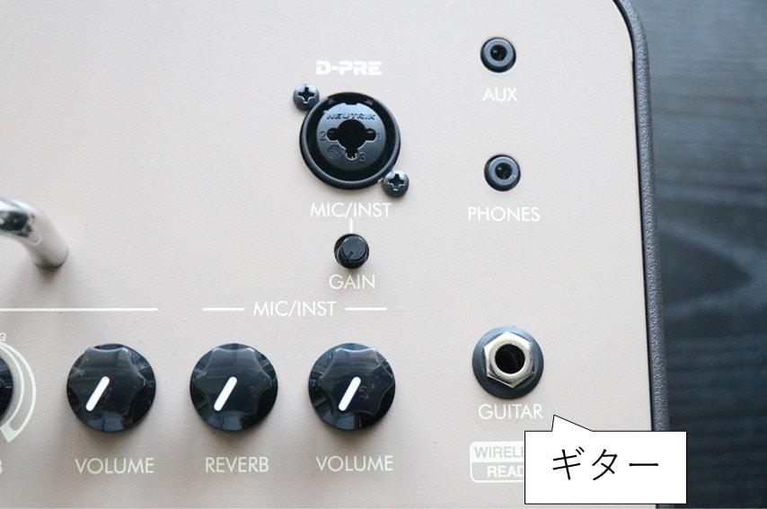 THR30ⅡA Wirelessのギター端子