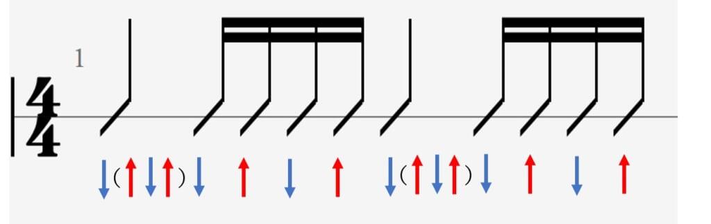 セプテンバー 札幌versionのストロークパターン