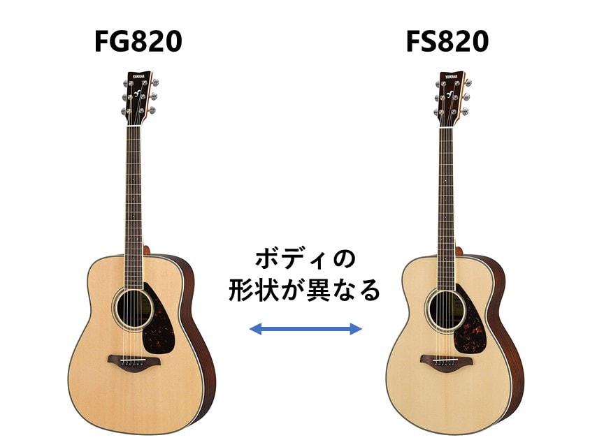 FG820とFS820のボディの違い