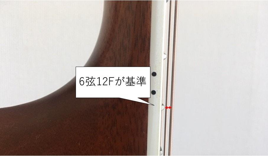 ギターの弦高は6弦12Fが基準となりやすい