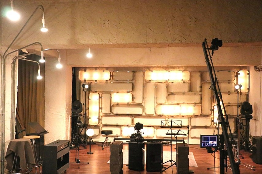 三軒茶屋GRAPEFRUIT MOONのステージの撮影風景