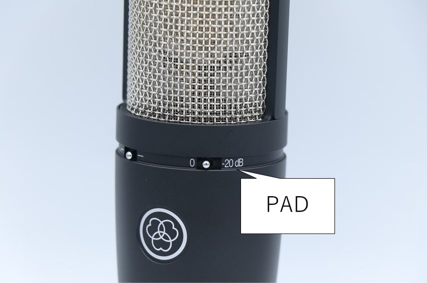 AKG P220のPADスイッチ