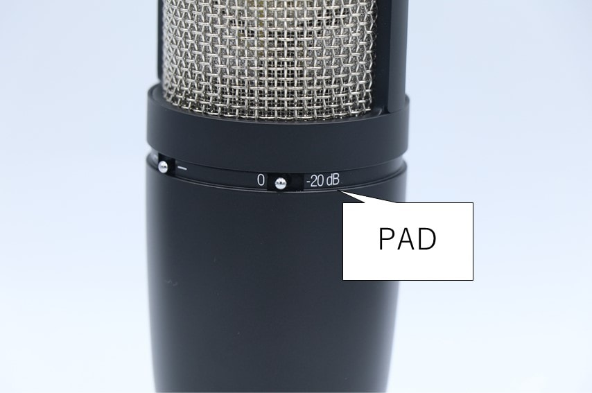 AKG P420のPADスイッチ