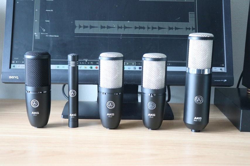 Project Studio Lineのマイク 全5種類