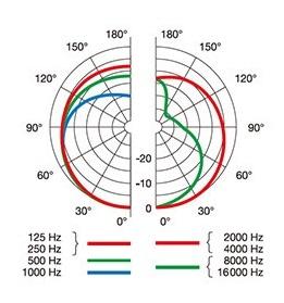 AKG P120の指向性