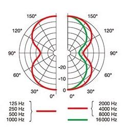 AKG P820 TUBE 双指向性の指向性